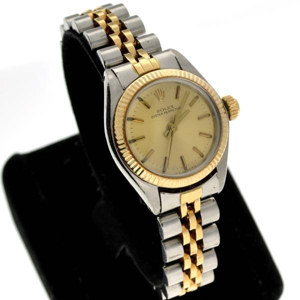 Rolex Women's Oyster Perpetual & Gold Watch