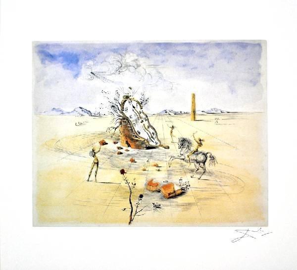 SALVADOR DALI Cosmic Horseman Print, Limited Edition