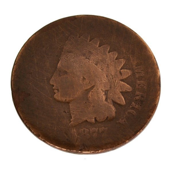 1877 Indian Cent Coin - Investment