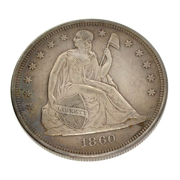 1860 N/M Liberty Seated Type Dollar Coin - Investment