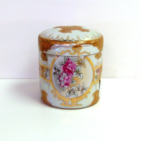 Flowered Porcelain Box