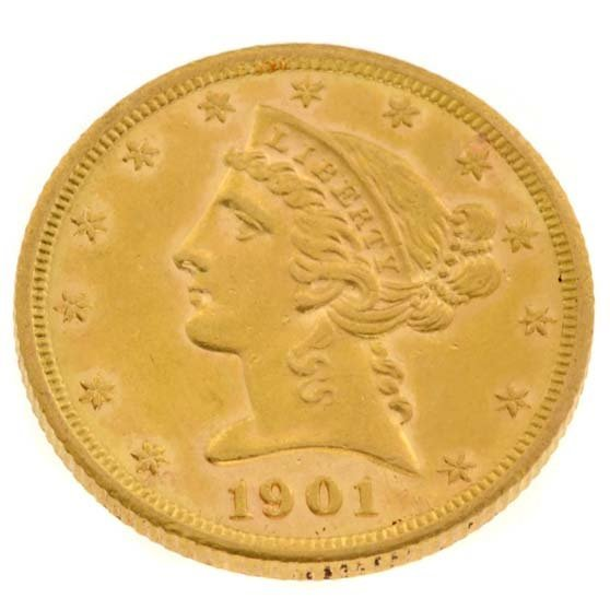 1901-S $5 U.S. Liberty Head Gold Coin - Investment