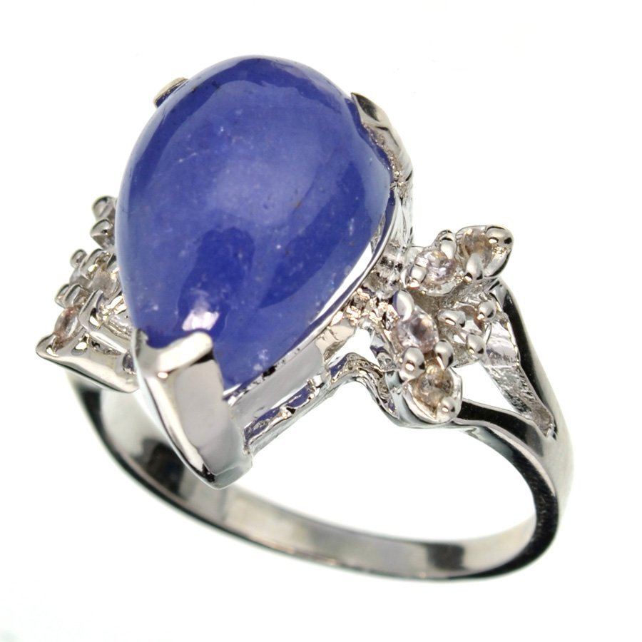 APP: 11k 11CT  Tanzanite & Topaz Sterl Silver Ring