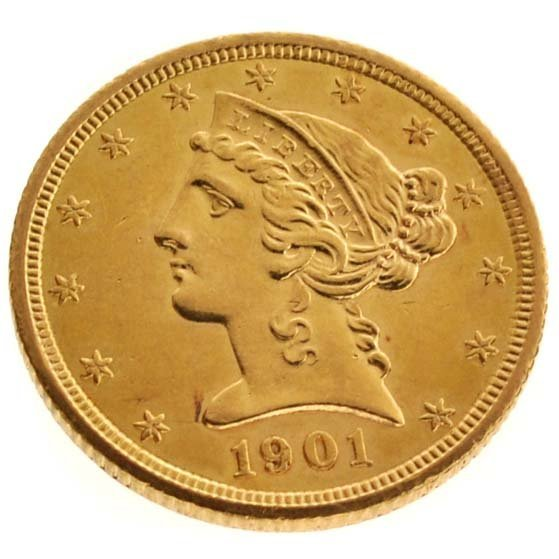 *1901-S $5 Liberty Head Gold Coin - Investment