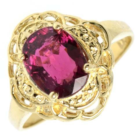 APP: 2k 14kt Gold, 1k Tourmaline Ring