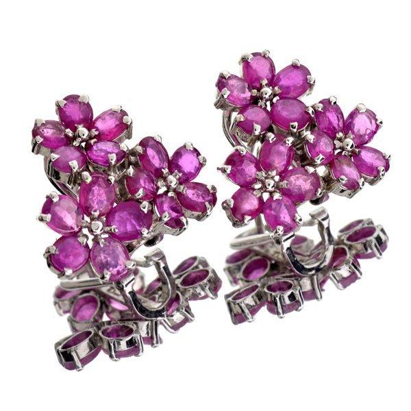 APP: 2k 6CT  Oval Cut Ruby & Sterl Silver Earrings