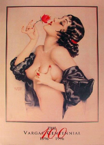 "Alberto Vargas - Memories of Olive, Print 36"" x 24"""