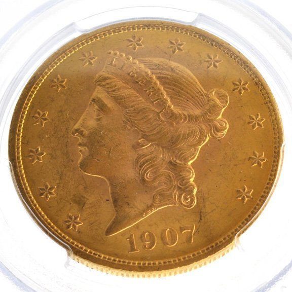*1907 $20 U.S Liberty Head Type Gold Coin - Investment