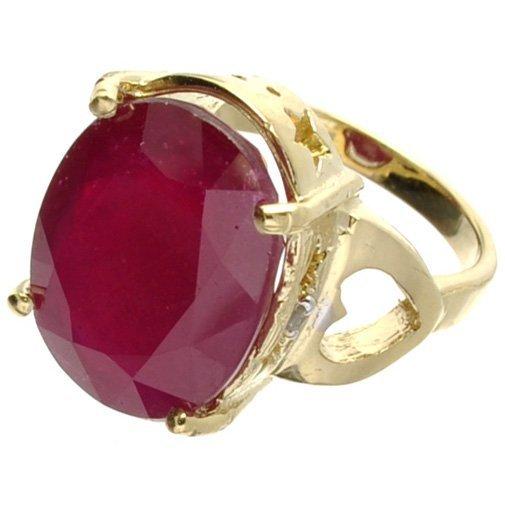 APP: 11k 14kt Yellow & White Gold, Ruby & Diamond Ring