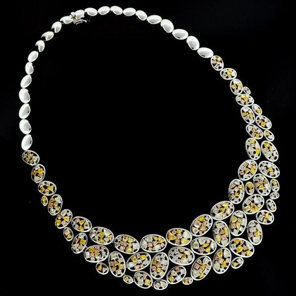 APP: 235k *Yellow, White, & Rose Gold Diamond Necklace
