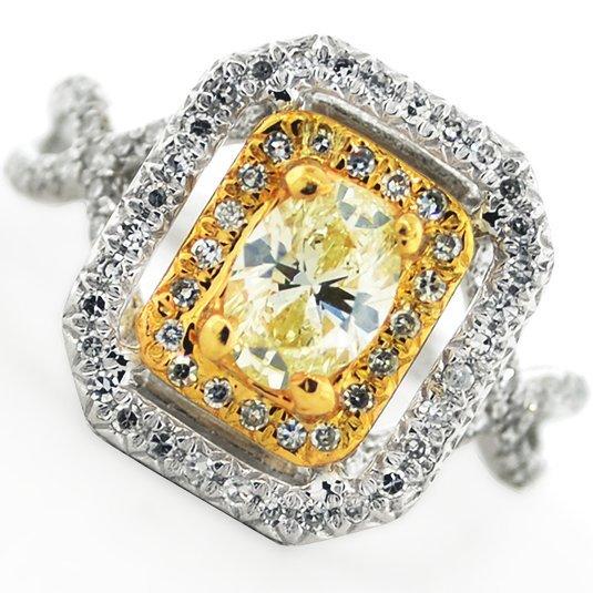 APP: 7k *14kt White & Yellow Gold, 1.18CT Diamond Ring