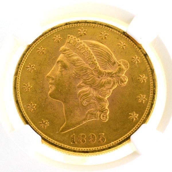 *1895 $20 U.S Liberty Head Type Gold Coin - Investment