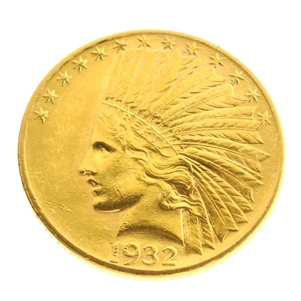*1932 $10 U.S Indian Head Type Gold Coin - Investment