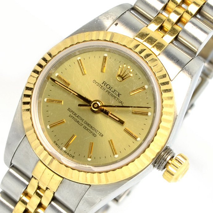 Rolex Women's Oyster Perpetual Stainless & Gold Watch