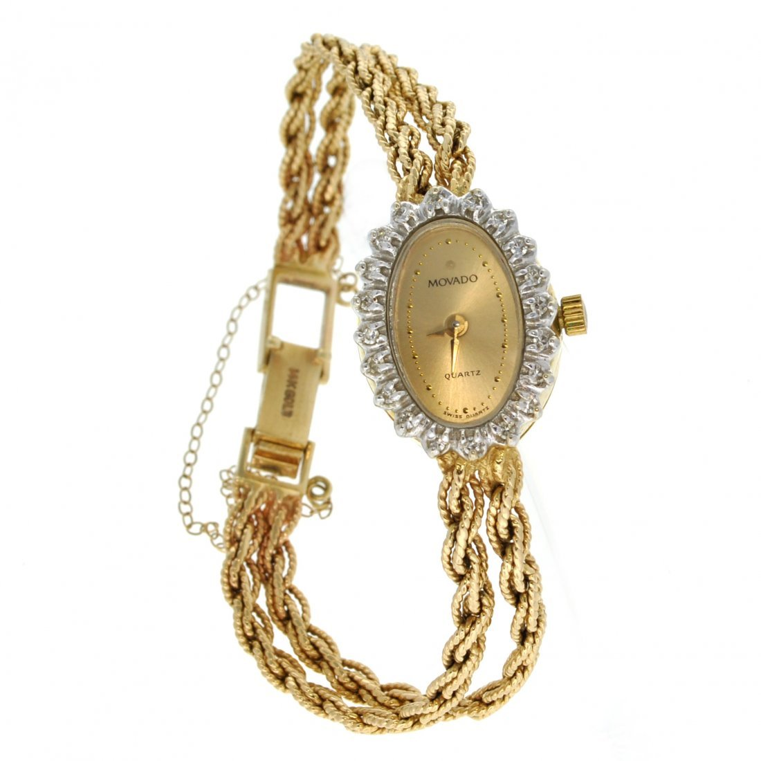 APP: 4.6k *14 kt. Gold, 0.18CT Diamond Concord Watch