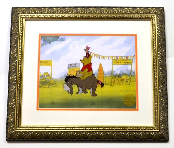 "Disney Serigraph Cel ""Winnie The Pooh"" Museum Framed"