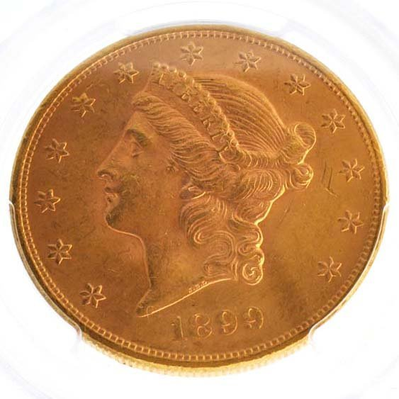 *1899 $10 U.S Liberty Head Type Gold Coin - Investment