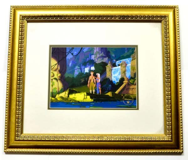 "Disney ""Atlantis"" Print Rare Museum Framed Ltd. Edition"