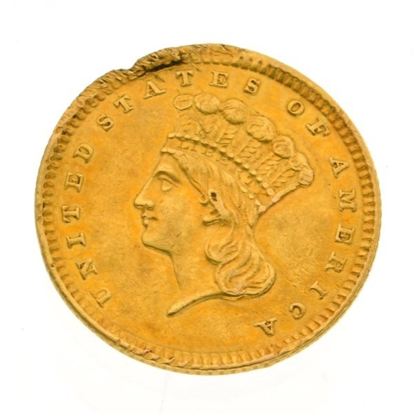 1857 $1 U.S Liberty Head Type Gold Coin - Investment