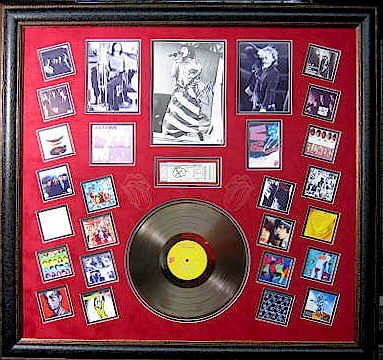 Mick Jagger Gold Album - Authentic Signature