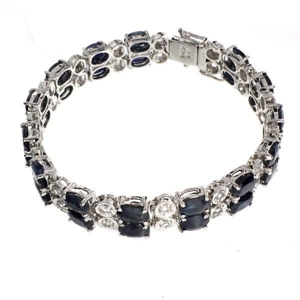APP: 17k 18CT  Sapphire & Topaz Sterl Silver Bracelet