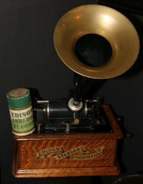 Early Restored Edison Phonograph 1910
