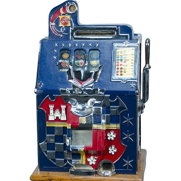 25 Cent Mills Novelty Castle Front Slot Machine c1933