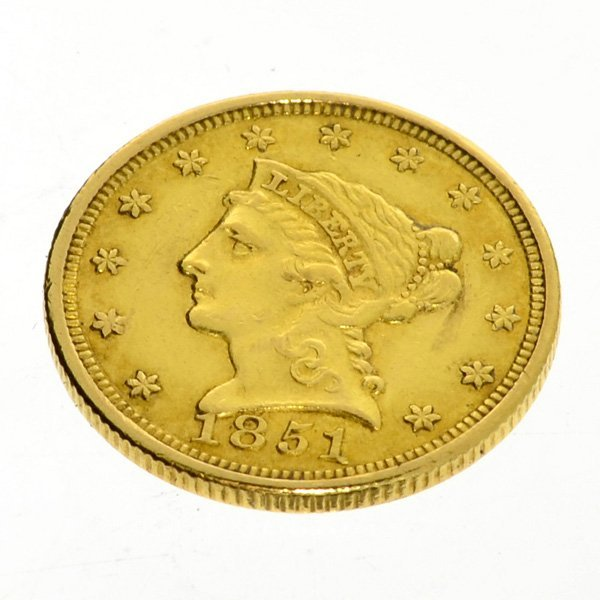 1851 U.S. $2.5 Liberty Head Gold Coin - Investment
