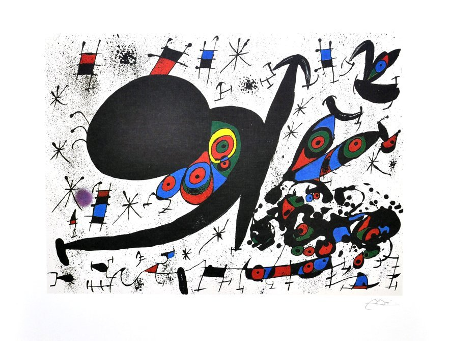 JOAN MIRO Homage To Joan Pratt Print, Limited Edition