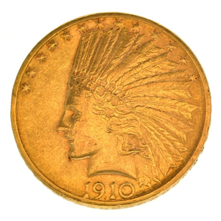 *1910-D $10 U.S. Indian Head Gold Coin - Investment