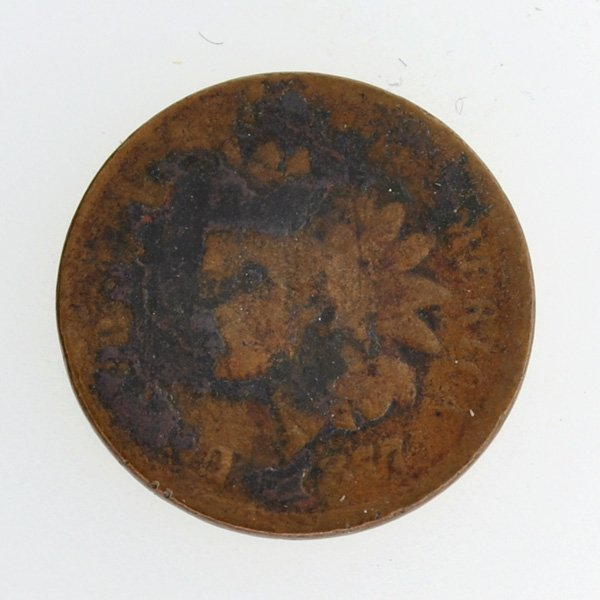 1877 Indian Head Type One Cent Coin - Investment