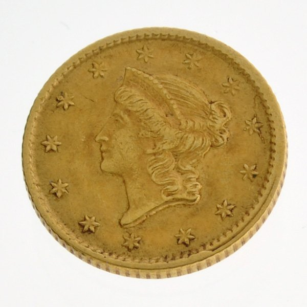 *1851 $1 U.S Liberty Head Type Gold Coin - Investment