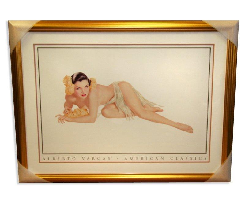 """Alberto Vargas - Framed Lithograph - """" Temptation """""""