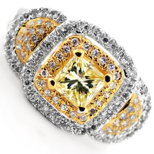 APP: 9k *14kt White & Yellow Gold, 1.39CT Diamond Ring