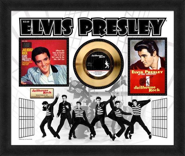 "ELVIS PRESLEY ""Jailhouse Rock"" Gold 45 RPM"