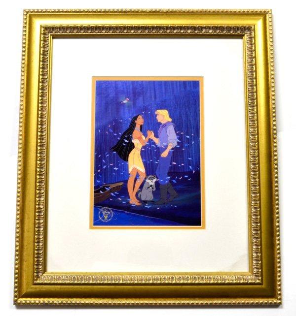 """Disney """"Pocahontas"""" Print Rare Museum Framed Ltd. Edn"""
