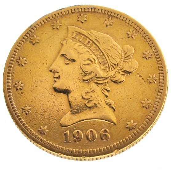 *1906-S $10 U.S Liberty Head Type Gold Coin
