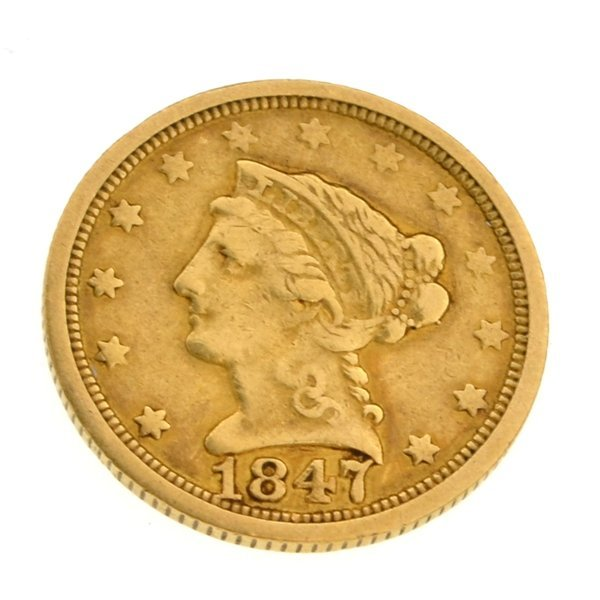 1847-O $2.50 U.S Liberty Head Type Gold Coin