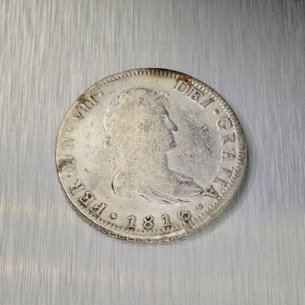 1816 Eight Reales First Silver Dollar Coin - Investment