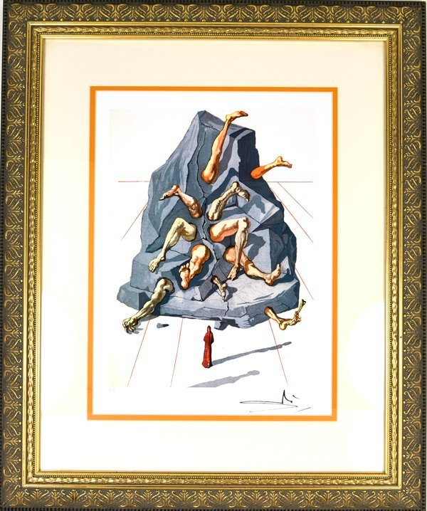 """SALVADOR DALI """"The Simonists"""" Museum Framed 20x24  8/99"""