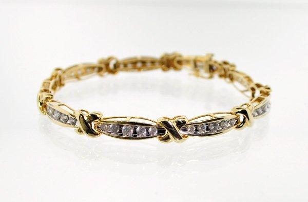 APP: 12.2k 14 kt. Gold, 2.50CT Diamond Bracelet