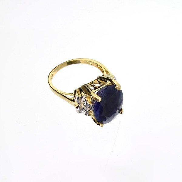 APP: 4.6k 14 kt. Gold, 8.27CT Blue Sapphire Ring