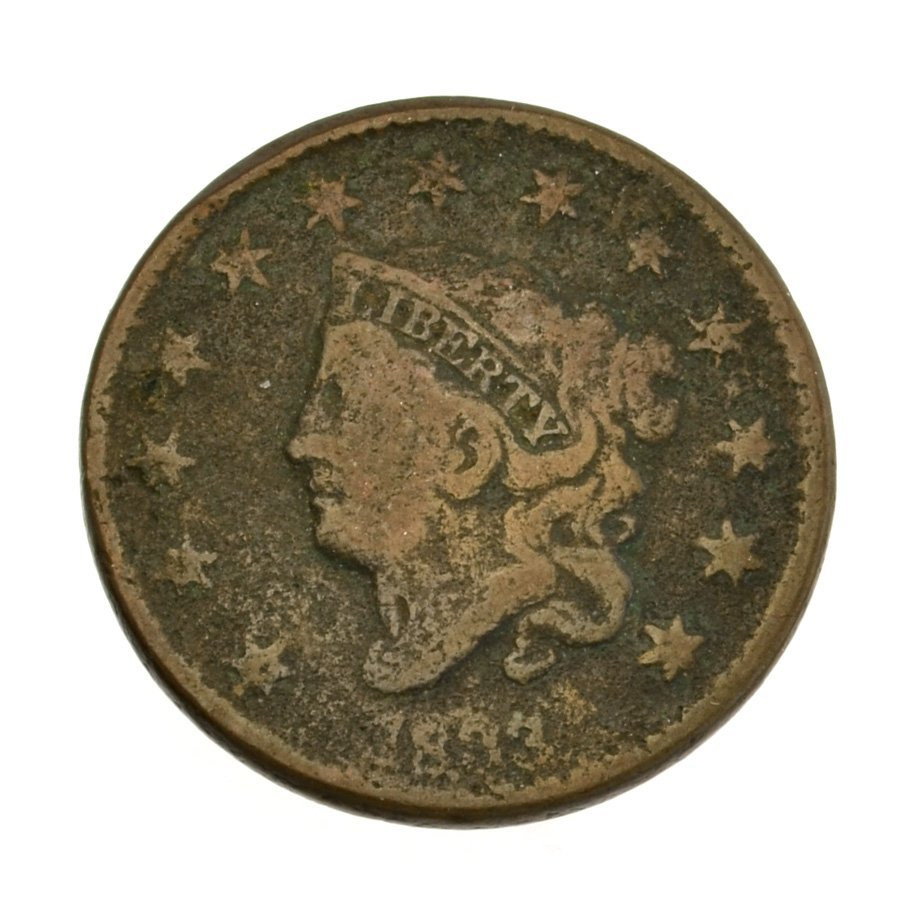1833 Coronet Type Large Cent Coin - Investment