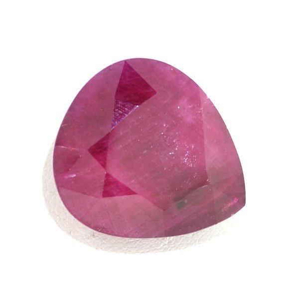 APP: 19.7k 47.56CT Pear Cut Ruby Gemstone