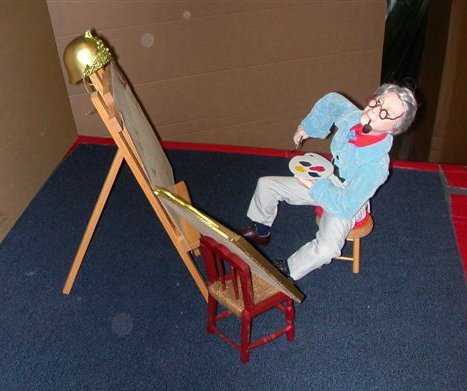 Norman Rockwell - Self Portrait Porcealain Sculpture