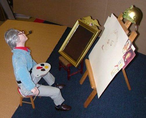 Norman Rockwell - Self Portrait Porcealain Sculpture - 3