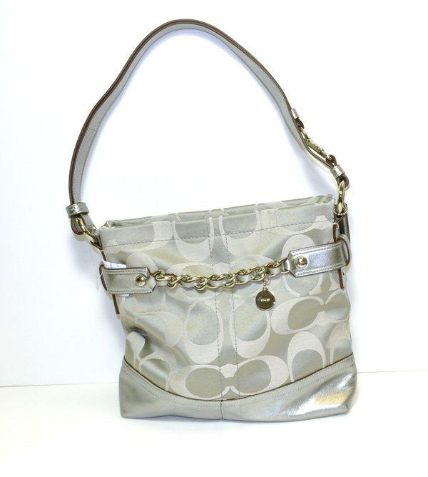 Coach- Original - Graphite / Platinum Silver Handbag