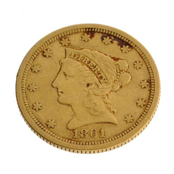 1861 $2.50 U.S. Liberty Head Type Gold Coin