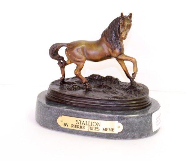 Stallion- By Pierre Jules Mene-Bronze Reissue