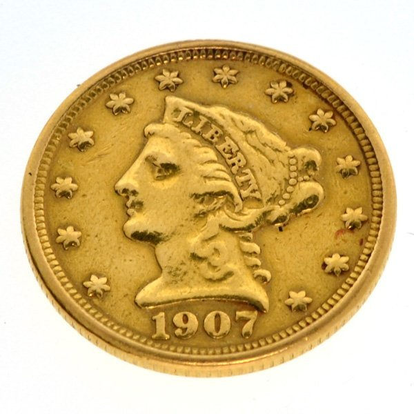 1907 $2.5 U.S. Liberty Head Gold Coin - Investment